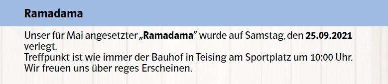 Ramadama in Teising